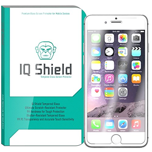 iPhone 6S Plus Screen Protector, IQ Shield Tempered Ballistic Glass Screen Protector for iPhone 6S Plus (iPhone 6 Plus 5.5) 99.9% Transparent HD and Anti-Bubble - with