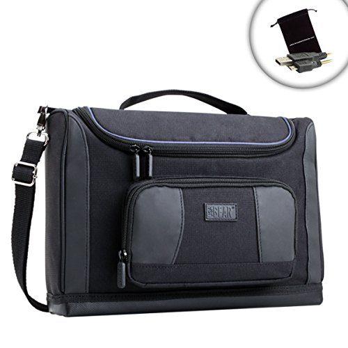 """USA Gear S7 Pro Professional Laptop Travel Bag w/Scratch-Resist Interior, Accessory Pockets, Ripstop Nylon & A Weather-Resistant Base for Dell XPS 13 - Also Works with Other Laptops up to 13"""" from USA Gear"""
