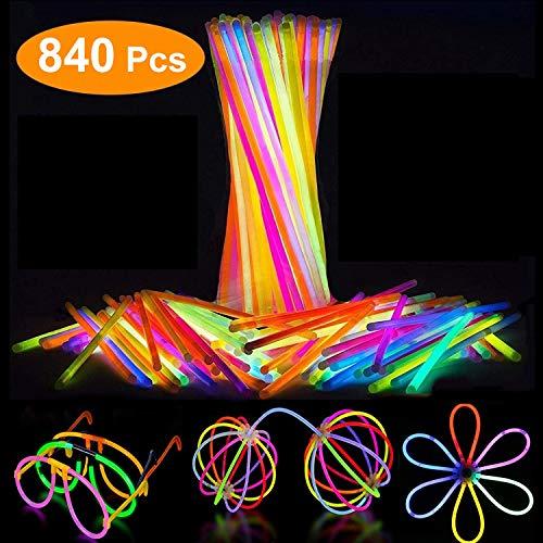 Attikee 8 Inch Glow Sticks for Glow Party Supplies - 840 PCS