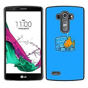 All Phone Most Case / Oferta Especial Duro Teléfono Inteligente PC Cáscara Funda Cubierta de proteccion Caso / Hard Case LG G4 // Funny Goldfish Fish