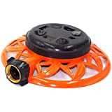 2wayz 8 Pattern Turret Garden Lawn Sprinkler with Super Heavy Duty Circle Metal Base. Powerful Water Output with No Leaks! ¾