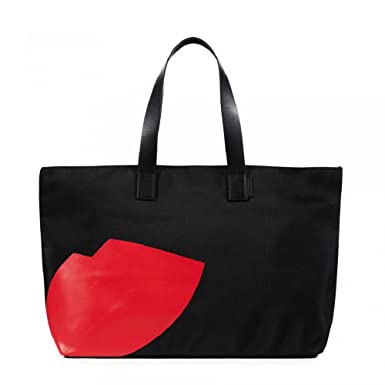 Tote Bag, Black, Patent, 2017, one size Lulu Guinness