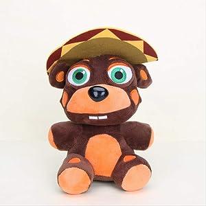 Missyou Five Nights At Freddy'S Plush Toys18Cm, Freddy Fazbears Pizzeria Simulator Ver El Chip Lefty Rockstar Foxy Doll Juguete para Niños 18Cm 2