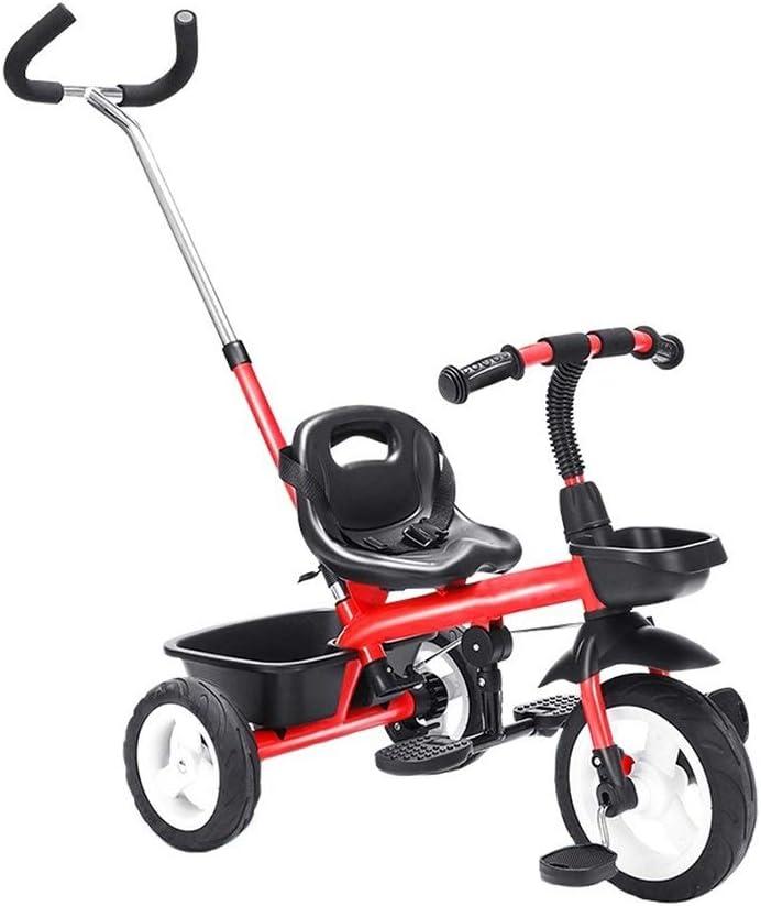 Regalo de cumpleaños for los niños portátiles triciclo 2-en-1 de peso ligero de la bicicleta infantil cochecito de bebé 1-3-6 años de edad, andador for niños que completan un ciclo el montaje de merca