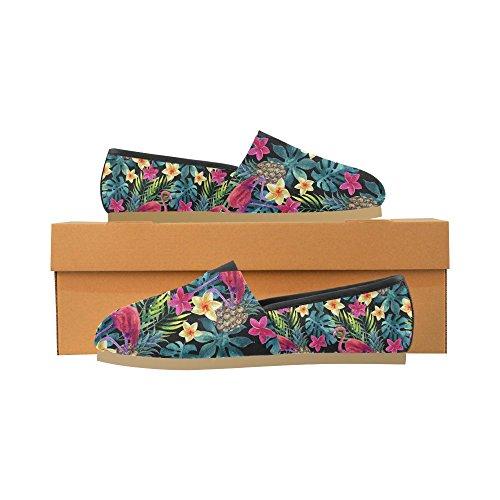 Interestprint Rock And Roll Musique Mocassins Hipster Chaussures Occasionnels Pour Les Femmes Aquarelle Tropicale