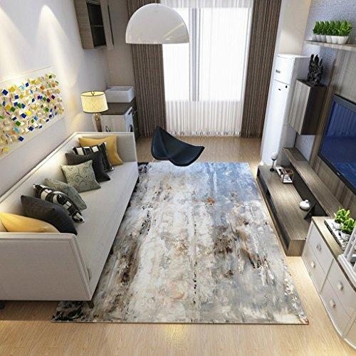 Collapsible Bedroom Bedside Non-slip Carpet Modern Minimalist Abstract Art Sofa Coffee Table Large Carpet ( Color : Light blue , Size : 180cm×280cm ) by Love home (Image #2)