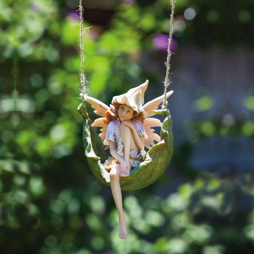 al Fairies Pensive Pixie Hanging Statuary (Fairy Petals)