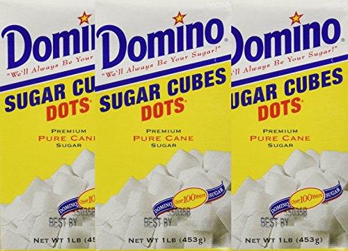 Domino Sugar Cubes Dots 1 lb (3 pack) 3 lb Total