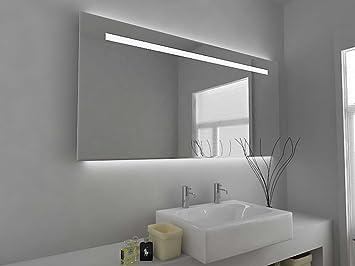 Miroir Design Moderne Miroir éclairé Pour Salle De Bain Avec Capteur De  Mise Sous Tension,