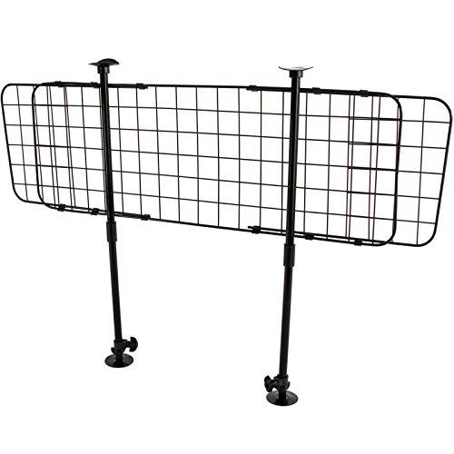 Cargo Divider Bar (Easy Mount Universal Wire Pet Barrier Safety Grid Divider - Adjustable Mesh Bar Fence SUV Van Cargo Area)
