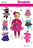 Simplicity 1711 18-Inch Doll Clothes Sewing
