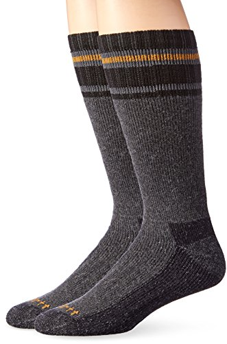 (Carhartt Men's Heavy Duty Thermal Crew 2-Pair Socks, gray Shoe Size: 6-12)
