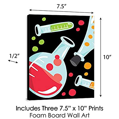 Big Dot of Happiness Scientist Lab - Baby Boy Nursery Wall Art and Mad Science Kids Room Decor - 7.5 x 10 inches - Set of 3 Prints: Arts, Crafts & Sewing