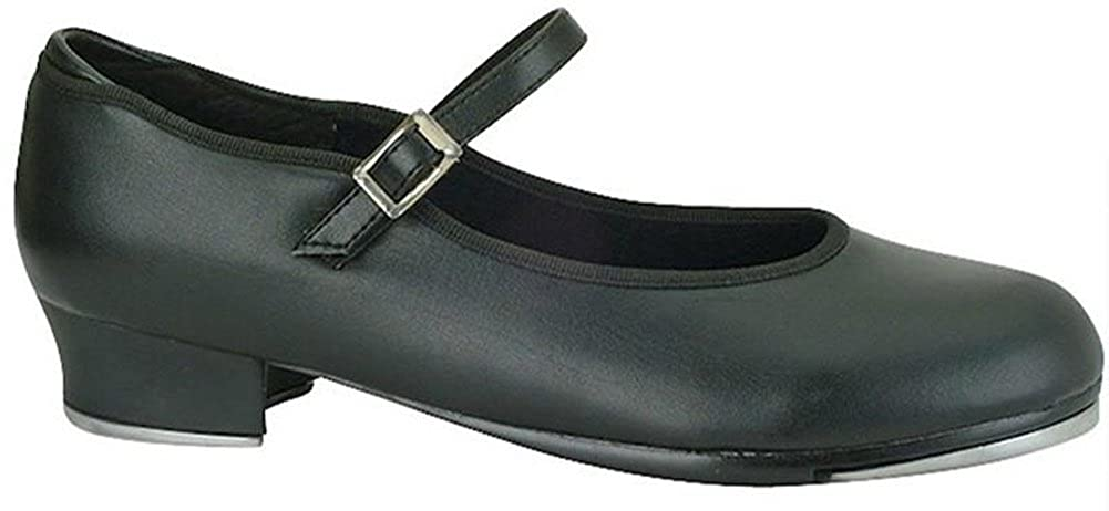 Value Strap Tap with Star Tone Toe and Heel Taps 12.5YOUTH, BLACK