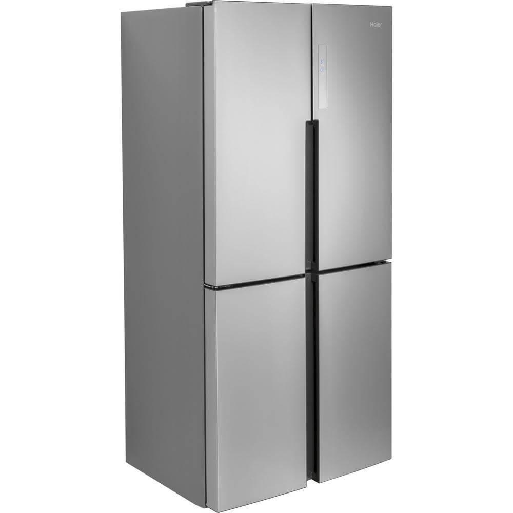 Amazon.com: Haier 16.0 Cu. Ft. 4 Door Bottom Freezer Refrigerator Stainless  Steel: Appliances