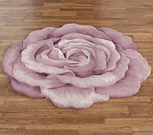 Nourison Claire Bloom Rose Flower Shaped Rug Lavender
