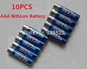 ARBUYSHOP 10 PC / porción de alta calidad Niza AAA batería de litio Li-ion para la cámara, radio, etc juguete súper buena calidad, vida útil de 15 años