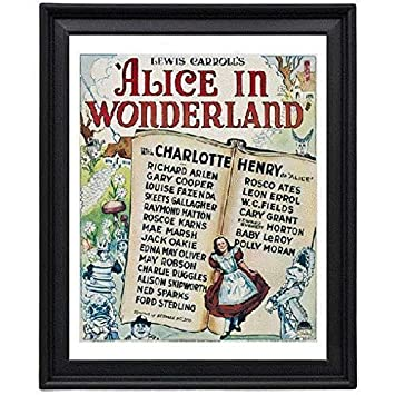 Amazoncom Alice In Wonderland 1933 1 Picture Frame 8x10 Inches