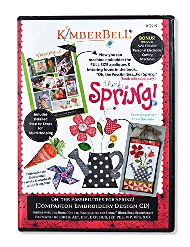 Kimberbell Spring Companion Pattern CD, Muliti Color