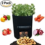 #1: 2 pack,5 gallon pocket garden, grow bag plant with access flap,plant pot that allows roots to breathe and grow healthier, boost plant, appartement/condo/garden/balcony garden, indoor/outdoor planting.