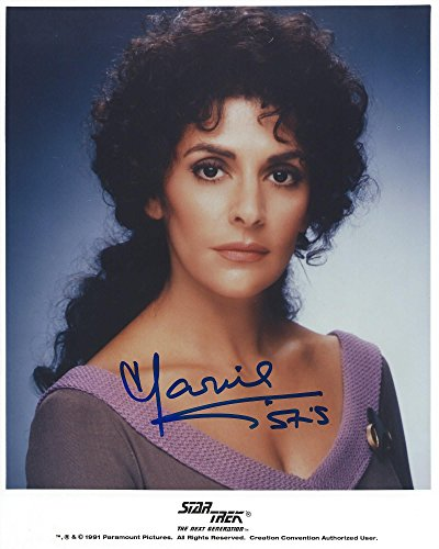 Star Trek the Next Generation Counselor Deanna Troi Signed Autographed Marina Sirtis 8x10 Photo