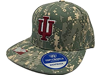 Top of the World Indiana Hoosiers TOW Digital Camouflage Patriot Snap Adjustable Snapback Hat Cap by Top of the World