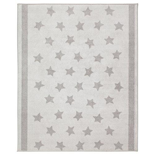 IKEA Kinder Teppich Sterne 133x160 cm in drei Farben (Hellgrau)