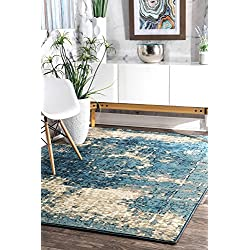 nuLOOM Vintage Lindsy Area Rug, 5'3' x 7'8', Blue