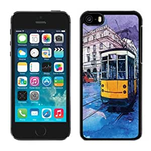 XiFu*MeiBeautiful Custom Designed Cover Case For ipod touch 5 With Hand Drawn Tramcar Phone CaseXiFu*Mei