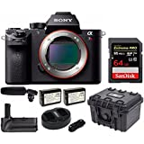 Sony a7Rii Full-frame Mirrorless Interchangeable Lens Camera w/Tascam Pro DR-10SG Audio Recorder & Mic Kit