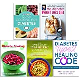 img - for Quick Cooking For Diabetes, The Diabetes Weight Loss Diet, Diabetic Cooking For One And Two, The Everyday Diabetic Cookbook, Diabetes Type 2 Healing Code 5 Books Collection Set book / textbook / text book