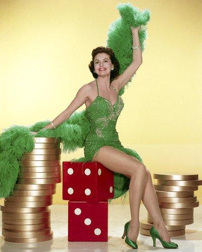 (Cyd Charisse Pose in Showgirl costume Las Vegas dice 16x20)