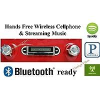 Bluetooth Enabled 1955-1959 Chevy Truck USA-630 II High Power 300 watt AM FM Car Stereo/Radio