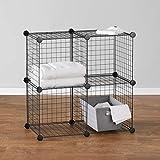 Amazon Basics Cube Grid Wire Storage Shelves