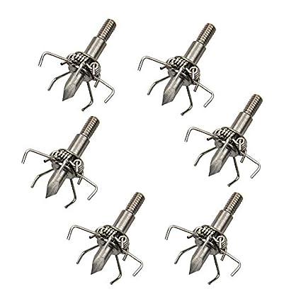 12 piezas Tiro al arco 100 granos Flecha Cabezas Disparos de caza ...