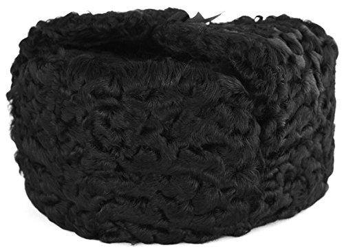 Persian Lamb Ushanka Trooper Hat (XX-Large, Black)