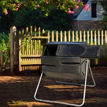 YIMBY-6-Cubic-Feet-Durable-UV-Resistant-Recycled-Plastic-with-Galvanized-Steel-Frame-Tumbling-Composter-RM4000