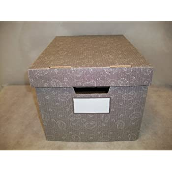 bankers box storfile decorative storage boxes letterlegal paisley 4 pack 0024204 - Decorative File Boxes