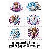 Unique Disney Frozen Temporary Tattoo Sheets, 4ct
