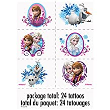 Disney Frozen Tattoo Sheets, 4ct
