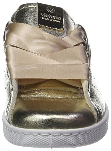 victoria Unisex-Erwachsene Deportivo Metalizado Bañeras Sneaker Gold (Platino)
