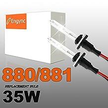 Engync® 35W 880 Xenon HID Replacement Bulbs | Hi/Low Diamond White / Hyper White / Pure White Color (6000K)