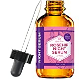 Rosehip Night Serum by Leven Rose, 100% Pure Organic Natural Skin Renewal Brightening Complexion Anti Inflammatory Anti Aging 1 oz