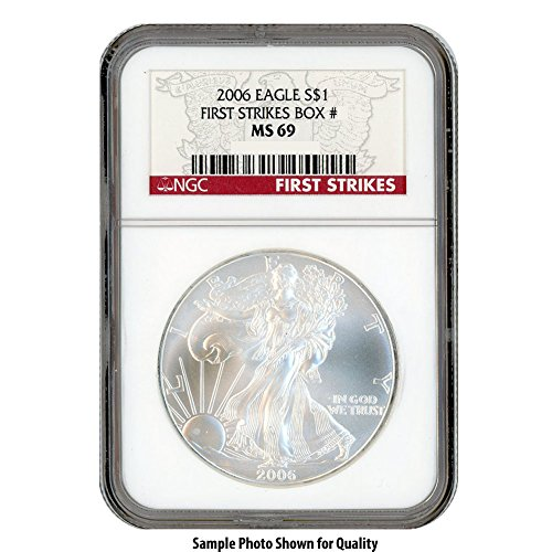 2006 American Silver Eagle $1 MS69 NGC First Strikes for sale  Delivered anywhere in USA