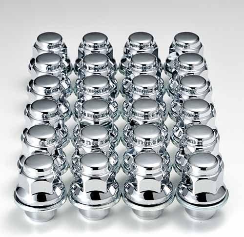 レクサス『純正タイプ』6穴 アルミホイール用ナット 37mmショートクローム メッキ4重層 24個1台分