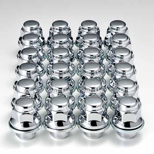 レクサス『純正タイプ』6穴 アルミホイール用ナット 37mmショートクロームメッキ24個1台分 B01N5YEC7Z