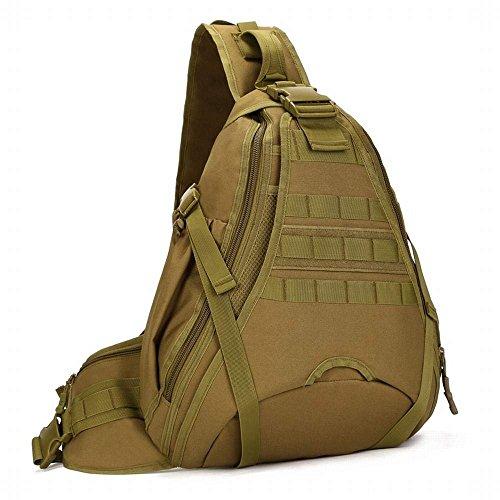 bolsa capacidad de cross a opcional Kai militar hombro de gran aire diagonal Función de de libre viaja agua bolsa al camuflaje de prueba Hung colores cross 5 de Marrón que multifunción mochila q0Rggw