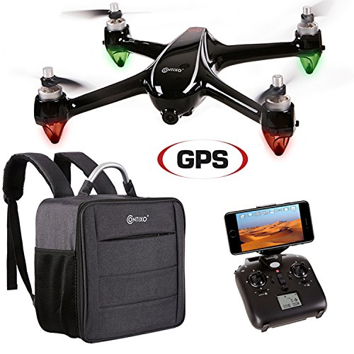 PRESIDENT'S DAY SALE! Contixo F18 Advanced GPS Assisted RC Quadcopter 1080P HD Live Video Camera Drone RTH Hovering Brushless Motors Carrying Back Bag Long Fly Range & WIFI FPV Distance