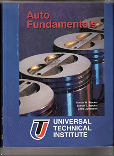 Book Instructor's Manual for Auto Fundamentals: How and Why of the Design, Construction, and Operation of Automobiles, Applicable to All Makes and Models