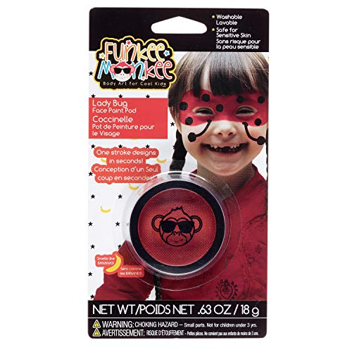 Funkee Munkee 38453 Pod Ladybug, Banana Scented, Costume and Party Makeup Face Paint, Red]()